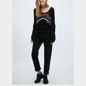 Free People New World Long Sleeve Top